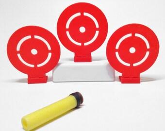 "3"" Flip Down Target (Set of 3) For Nerf Toy Foam Soft Dart Guns"