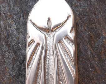 Gratitude - Thanking Spirit and ourselves - Pewter Pendant - Spiritual, Awakening Necklace, Forgiveness, The Secret, Jewelry