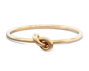 Solid Gold Forget Me Not Ring - Celtic Knot Ring - Knot Ring - Dainty Ring - Delicate Ring - Infinity Ring - Eternity Ring