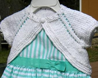 Charlotte's Sunday Shrug | pdf knitting pattern | fits newborn - 24 months