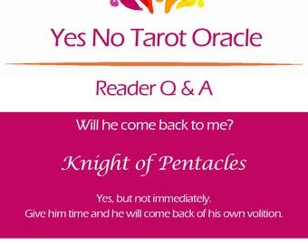 Yes No Tarot Oracle Reading