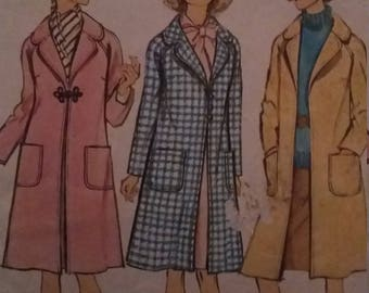 Vintage Simplicity 6237 Sewing Pattern Size 14 Bust 36 Coat