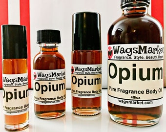 Opium, Roll On Bottle, 1/3oz, 1oz, Pure Fragrance Body Oil, Perfume Oil.