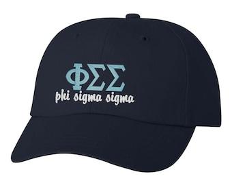 Phi Sigma Sigma, Phi Sigma Sigma hat, Phi Sigma Sigma apparel, Phi Sigma Sigma letters, big little, sorority hat, sorority gift