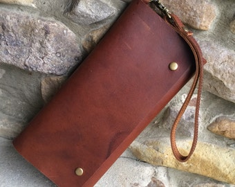 Womens Leather Wallet, Leather smart phone wallet, ladies leather wallet, womens wallet, women's wallet, long wallet