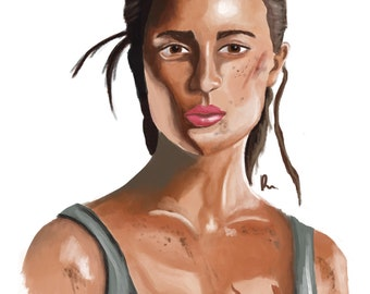 Lara Croft (Alicia Vikander) Digital painting