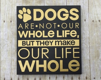 Dog sign, sign with dog quote, gift for vet, sign for pet lover, pet lover, gift for dog lover, wood dog sign, vet's office gift, dog quote