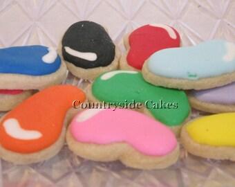 Jelly Bean Mini Easter Decorated Sugar Cookies -2 dozen