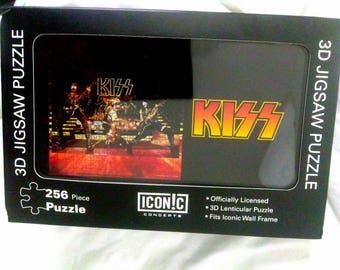 Kiss Band 3D Jigsaw Puzzle You Want The Best You Got The Best Mint Hottest Band in the World Paul Stanley Gene Simmons Kiss Alive Era Photo