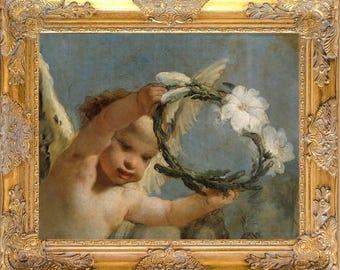Gorgeous Angel Art Print, Print on Canvas