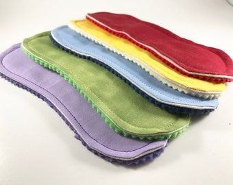 "Wingless Cloth Panty Liners 7.5"" Set of 5 Rainbow"