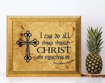 I CAN DO all things, printable quote, printable wall art, Philippians 4:13, inspiration quotes, printable quotes, wall art, printablestyles