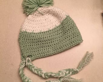 Two-Toned Hat with PomPom