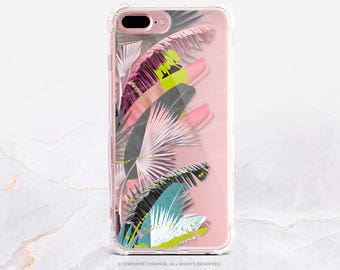 iPhone 8 Case iPhone X Case iPhone 7 Case Tropical Clear GRIP Rubber Case iPhone 7 Plus Clear Case iPhone SE Case Samsung S8 Plus Case U33