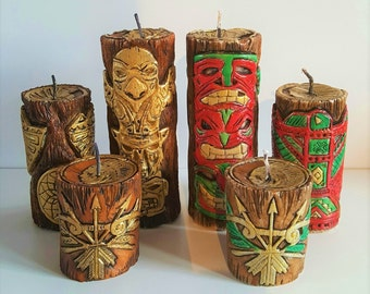 Native American Candle - Set of 3