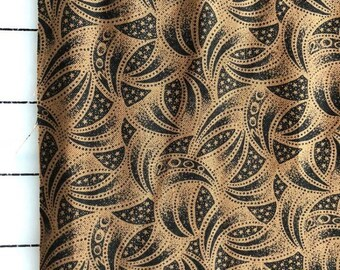 Brown swirl fat quarter cotton