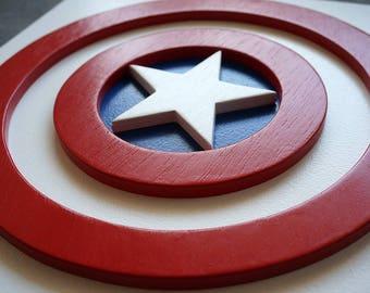 Superhero Captain America, Wall art, Kids bedroom wall art