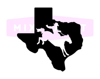 Texas Cowboy Map SVG Cutting Files, Texas Cowboys Map DXF Cuttable Files, Silhouette Texas Cowboys Map Dxf Svg PNG Files, Instant Download