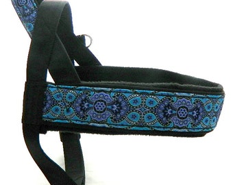 Norway harness with jacquard ribbon. For dog, IG, sighthounds, pugs, bulldogs, Italian greyhound, maltipoo, york, poodle, whippet