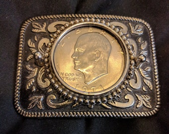 Western Belt Buckle w/ Coin