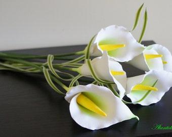 Callas Bouquet ,Home Decor,Handmade Flowers