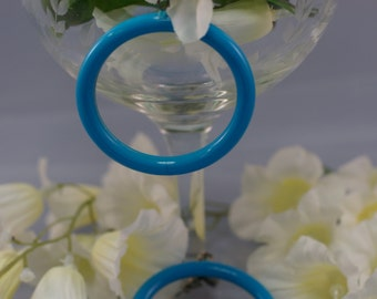 Vintage Turquoise/Blue Hoop Post Style Earrings