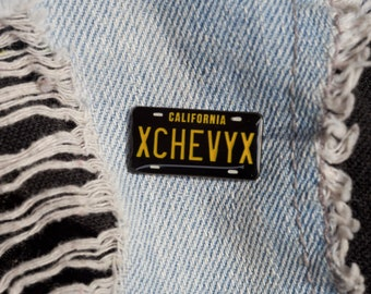 Classic Chevy California license plate Pin