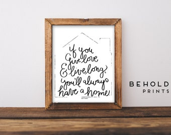 Home Decor, Quote Prints, Dorm Wall Art, Gifts for her, for her, Dorm Decor, Home Quotes, Home Sweet Home, Moving Away Gift, Family Quotes