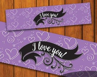 Mason Jar Printable Label / Valentine's Day / Hearts / Mason Jar / Instant Download / Women / Printable / Love