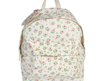 Personalised Rose Mini Backpack, Embroidered with your name