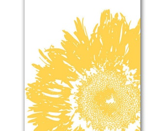 Summer Flower - Fine art print , Real Galaxy, yellow orange color, yellow galaxy flower
