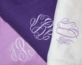 Bridesmaid Robe ,Monogrammed Robe, Waffle Robe, Personalized Bridesmaid Gifts, Kimono, Cotton Waffle Robe, Getting Ready, Robe Bridesmaid