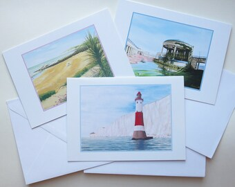 Eastbourne Views Blank Cards, Set of 3