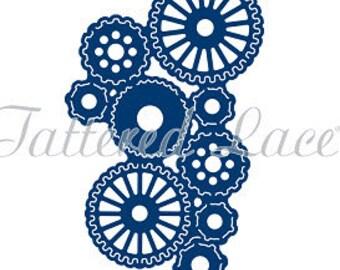 Tattered Lace Die - STeampunk Tuck In Gears