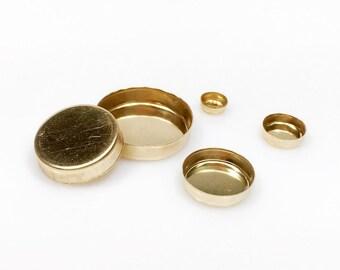 8pcs x Round 5mm Bezel Cups 14k Gold Filled (RD50GF)