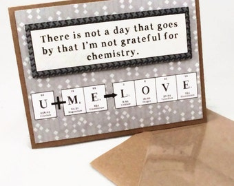 Chemistry Valentine's Day Science Card Stoichiometry