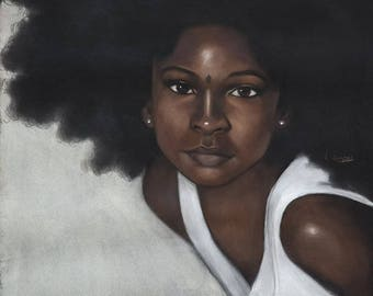 Afro Hair Girl by Laurie Cooper