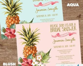 Tropical Bridal Shower Invitation   Luau Bridal Shower, Pineapple Bridal Shower, Hawaiian, Aloha, Couples Shower, Baby Shower
