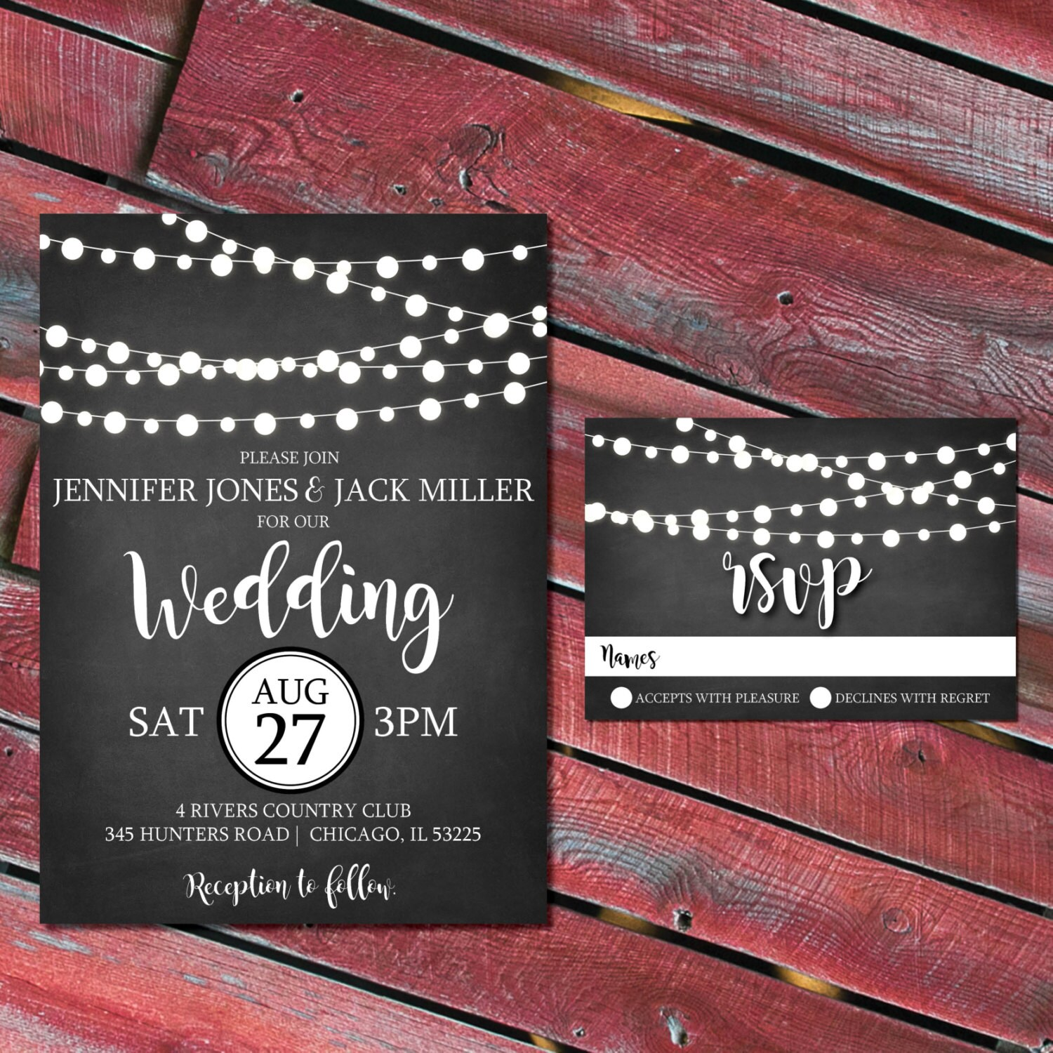 Attractive Rustic Wedding Invitation Kits Ornament - Invitations and ...