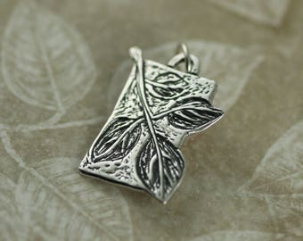 Sterling Silver Leaf Pendant – Sterling Silver Leaf Necklace – Sterling Silver Leaf Charm Pendant Necklace – Leaf Jewelry – Nature Jewelry