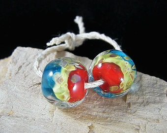 Handmade Lampwork Beads - Earring Pairs ~ Halo-Southwest-Boho-Lampies