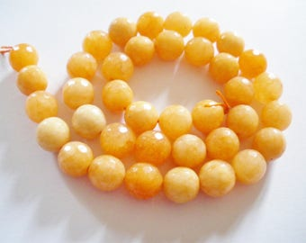 38 beads of jade has faceted 10 mm