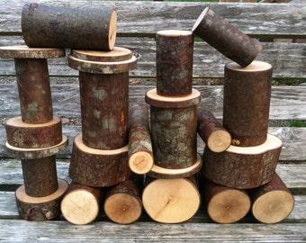 Set of 25 Woodland building blocks