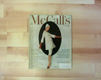 Vintage McCall's Magazine : February 1960