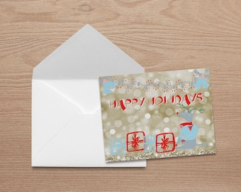 Holiday Card / Christmas Card Set with Matching Envelopes (5.5 x 4.25)