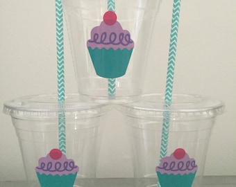 25 Cupcake Party Cups-12 oz