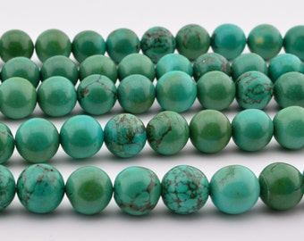 """15.5""""   Retro  Color  Green  Turquoise  Round  Beads ,  GREEN  TURQUOISE  GEM"""