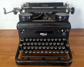 Antique Royal Typewriter - Heavy Cast Iron. Vintage Decor