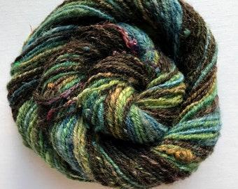 Woodsy Handspun Yarn – Variegated Handspun Yarn
