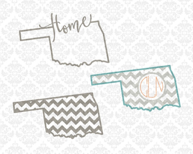 Oklahoma Svg, Oklahoma State svg, Oklahoma Monogram svg, Oklahoma Home svg, Oklahoma Love Svg, Oklahoma Patterned Svg, Cricut, Silhouette